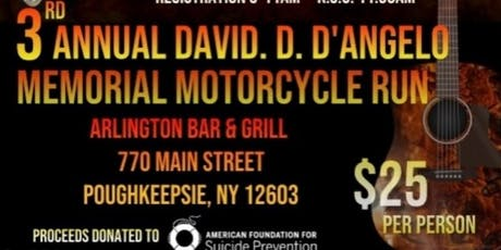 3rd Annual David D. D'Angelo Motorcycle Run tickets