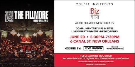 Biz Night with Live Nation tickets