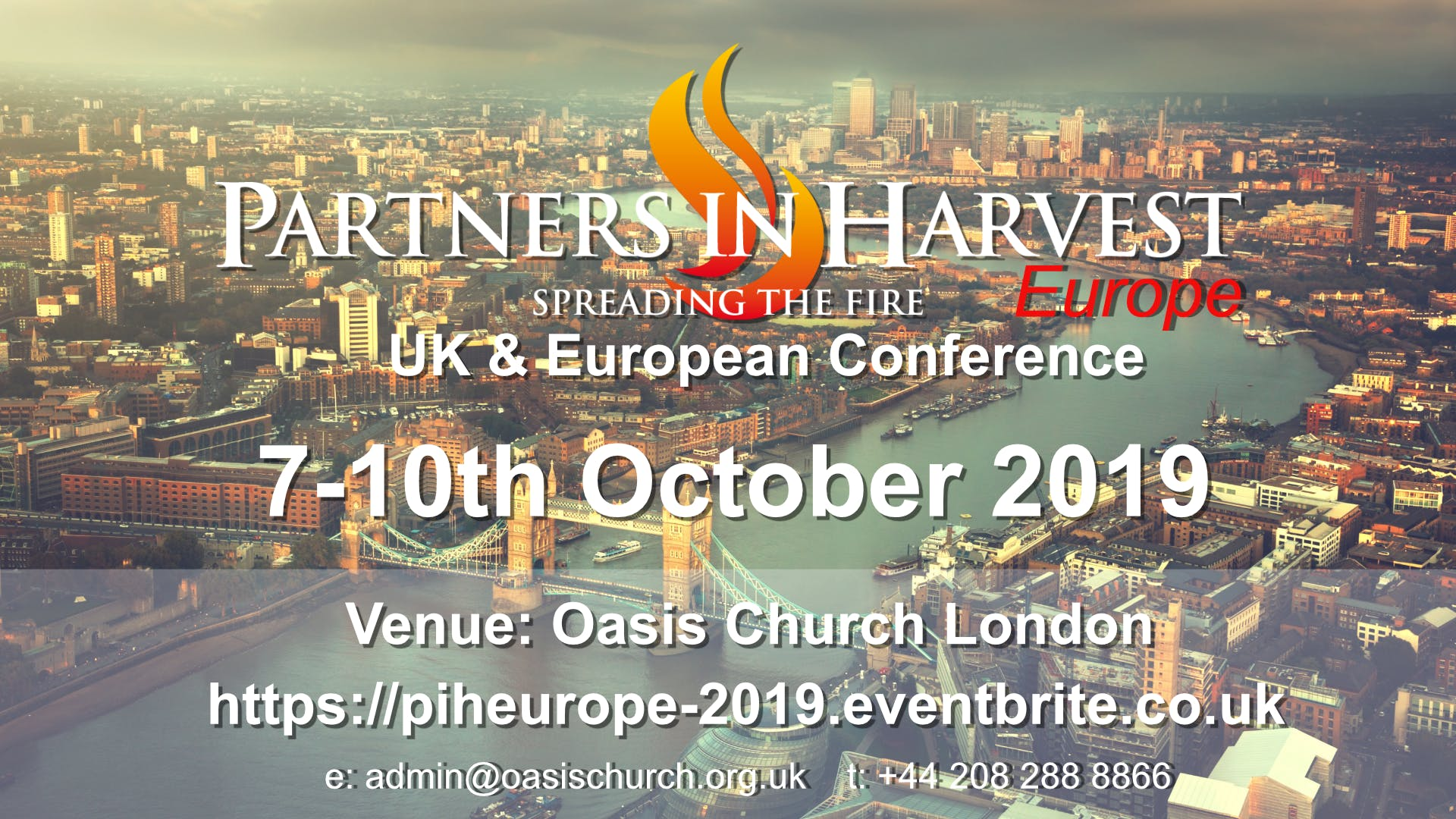 Partners in Harvest Europe: Fall Conference 2019