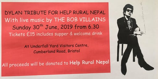 Dylan Tribute for Help Rural Nepal – Live music from The Bob Villains