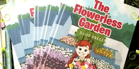 "Book signing, Childrens book ""The Flowerless Garden"" by author, Richell Lindinger"