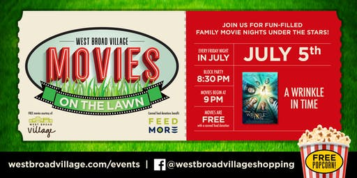 Movies on the Lawn – A Wrinkle In Time