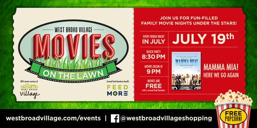 Movies on the Lawn – Mamma Mia! Here We Go Again
