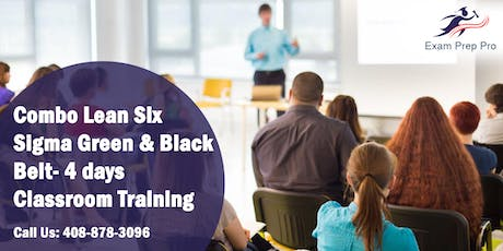 Combo Lean Six Sigma Green Belt and Black Belt- 4 days Classroom Training in Jefferson City,MO tickets