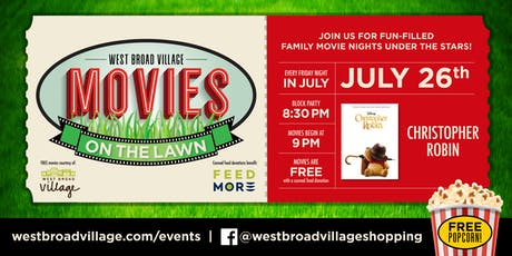Movies on the Lawn – Christopher Robin tickets