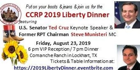 CCRP 2019 LIBERTY DINNER with U.S. SENATOR TED CRUZ tickets