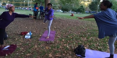 Yoga at Malcolm X Park in West Philadephia