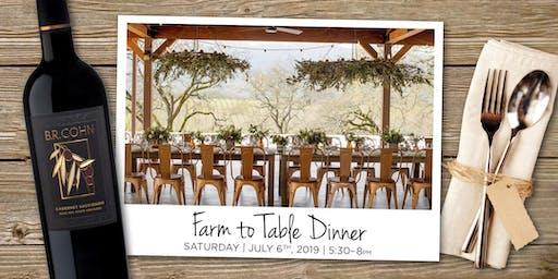 B.R. Cohn Farm-to-Table Dinner