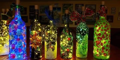 Bottle Night Light and Cork Keychain