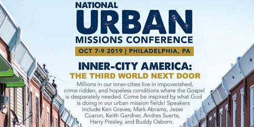2019 NATIONAL URBAN MISSIONS CONFERENCE