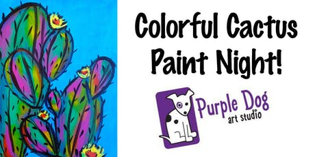 Colorful Cactus Paint Night tickets