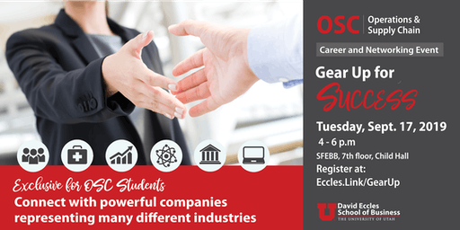Gear Up for Success: Operations & Supply Chain Career and Networking Event