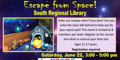 Escape from Space! at South Regional Library