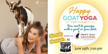 Happy Goat Yoga-For Charity: Sunset Session at TUPPS Brewery tickets