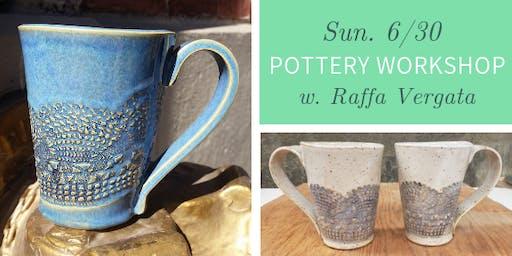 Pottery Workshop @ Nest on Main - Sun., 6/30