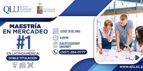 Reunión Informativa - Maestría en Mercadeo UChile boletos