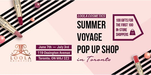 Loola Cosmetics Voyage Beauty Pop Up