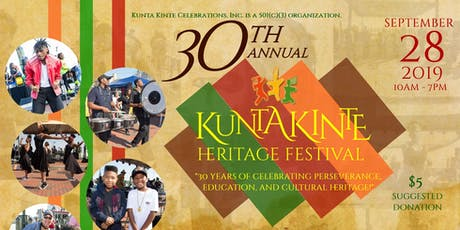30th Annual Kunta Kinte Heritage Festival tickets