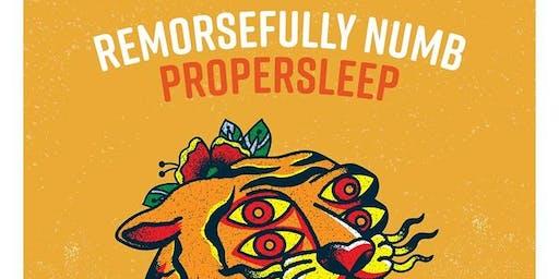 PROPERSLEEP & REMORSEFULLY NUMB w/ FAYE, BERGENLINE & FUTURISTS 6/30/2019