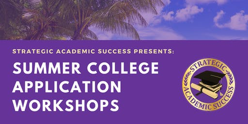 College Application Summer Workshop Bootcamps