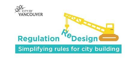 Regulation Redesign Workshop 2019: Calculating Floor Area & Building Height tickets
