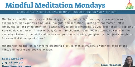 Mindful Meditation Mondays