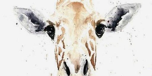 Gorgeous Giraffe Watercolour