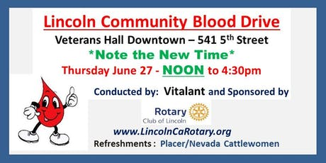 Lincoln Community Blood Drive tickets