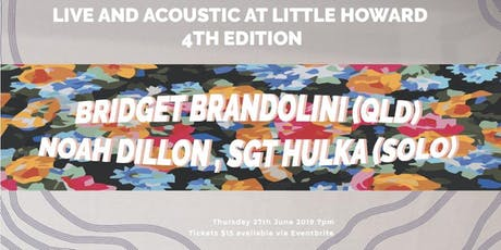 Live and Acoustic on Little Howard  4th Edition  tickets