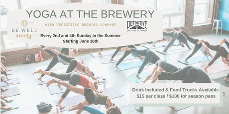 Yoga at the Brewery with Definitive Brewing tickets