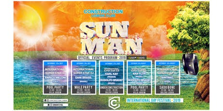 Sunman Festival 2019 - Tickets ALL EVENTS bilhetes