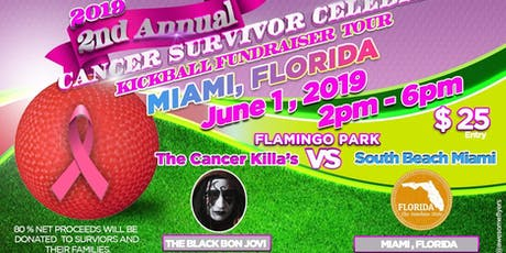 "THE 2019 CANCER SURVIVOR CELEBRITY KICKBALL FUNDRAISER TOUR ""SOUTH BEACH"""" tickets"