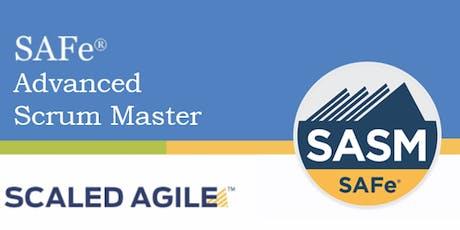SAFe® 4.6 Advanced Scrum Master with SASM Certification-Orlando, FL tickets
