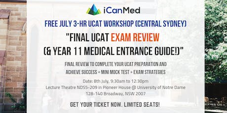 Final UCAT Exam Review (& Year 11 Medical Entrance Guide!) tickets