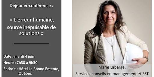 """Conférence """" L'erreur humaine,source inépuisablede solutions """""""