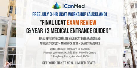 Final UCAT Exam Review (& Year 13 Medical Entrance Guide!) tickets