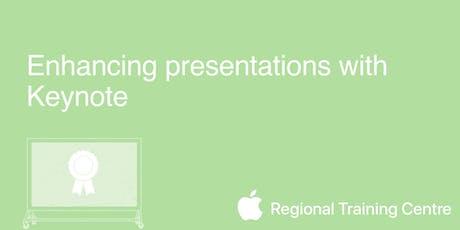 Enhancing presentations with Keynote  tickets