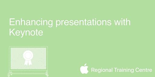 Enhancing presentations with Keynote