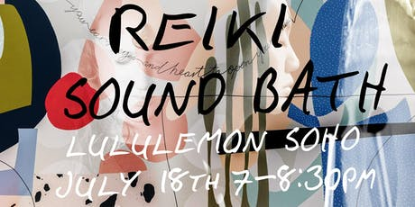 Reiki and Sound Bath tickets