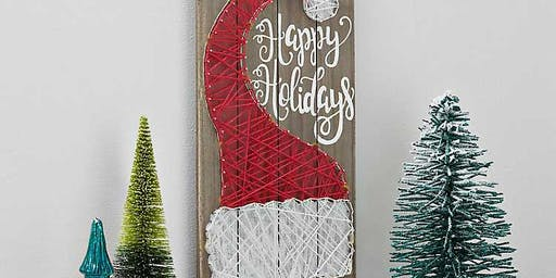 CHRISTMAS IN JULY String Art Maker Paint and Sip Class