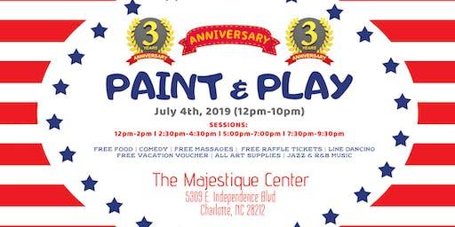 Three Year Anniversary: Paint & Play