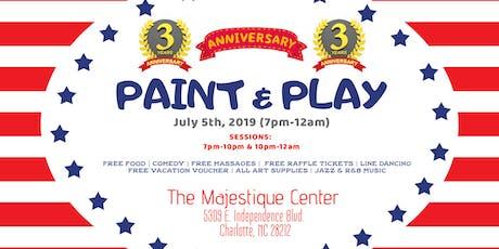 Three Year Anniversary: Paint & Play tickets