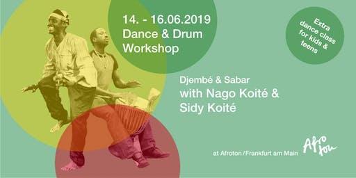 Tanz- und Trommelworkshop mit Nago und Sidy Koité