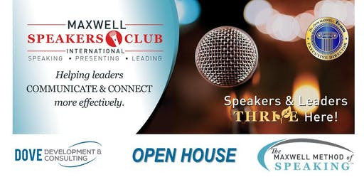 Anniversary Open House - Maxwell Speakers Club Harrisonburg June 26th!