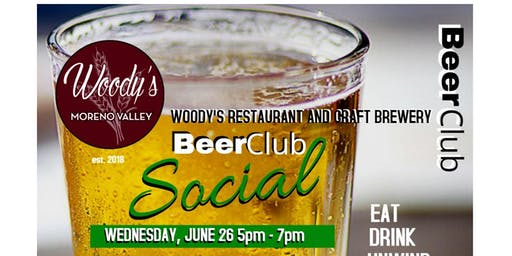 Woody's Beer Club Members Beer Social!