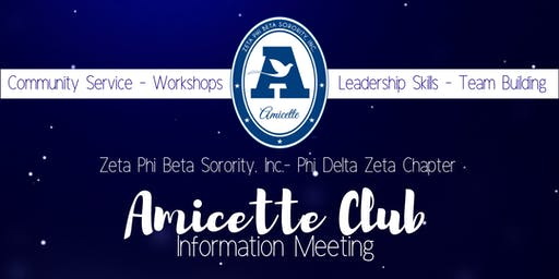 PDZ Amicette Club Informational Meeting