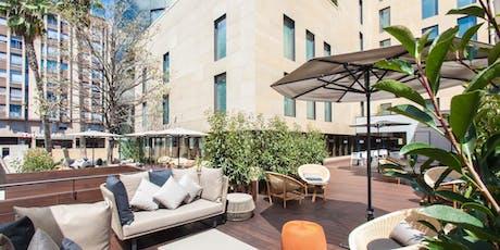 Terrace Afterwork party with dj set B2B J. Soler Helen Me lia. OD Barcelona Hotel. Entrada libre entradas