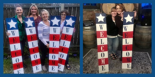 Patriotic Welcome Porch Sign