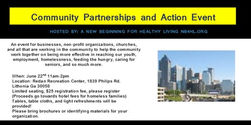 Community Partnerships and Action Event