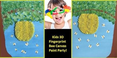 Kids 3D Fingerprint Bee Canvas Paint Party! tickets